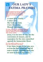 Fatima Prayer Card sets
